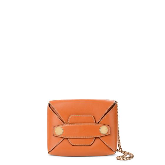 Stella Mccartney Stella Popper Small Faux-leather Shoulder Bag In Honey