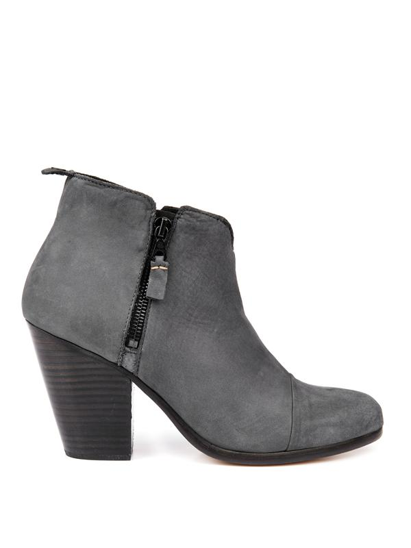 Rag & Bone Margot Nubuck Leather Ankle Boot, Charcoal In Charcoal-Grey