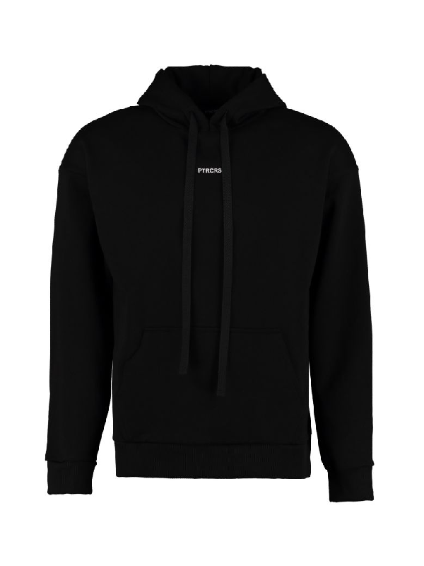 Ptrcrs By Christian Petrini Cotton Hoodie In Black