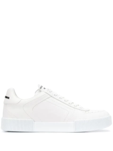 Dolce & Gabbana Miami Sneakers In Calfskin Nappa In White
