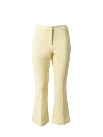 Theory Erstina Cropped Trousers In Giallo