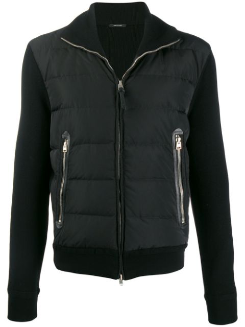 Tom Ford Padded Zip-up Jacket In Black