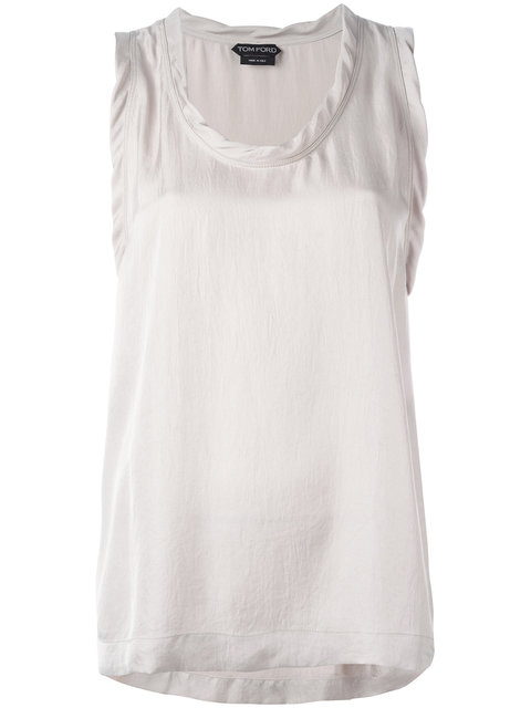 Tom Ford Flared Tank Top - Neutrals