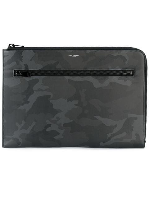 Saint Laurent Rider Camouflage Print Tablet Case