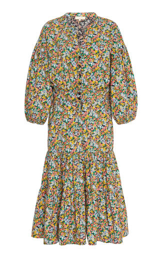 Bytimo Structured Cotton Shirt Dress In Floral
