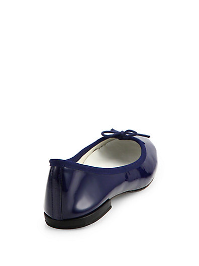 Repetto Cendrillon Patent Leather Ballet Flats In Navy
