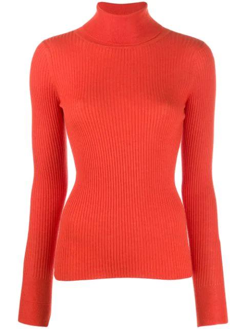 Snobby Sheep Ribbed Knit Sweater In 320 Arancio