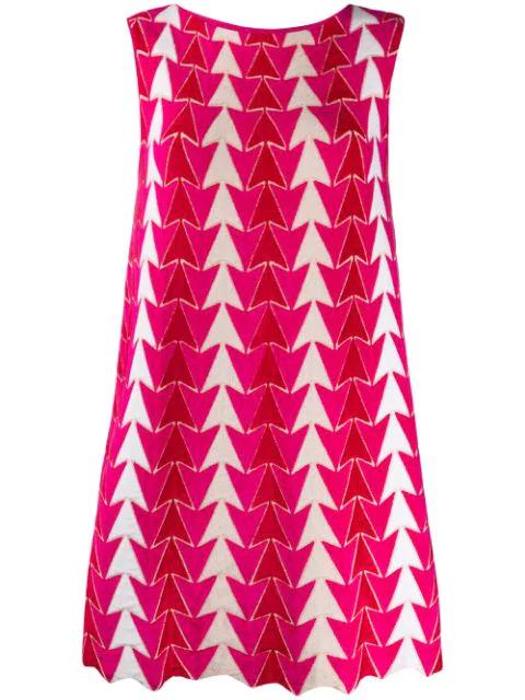 Antonino Valenti Arrow Pattern Dress In Pink