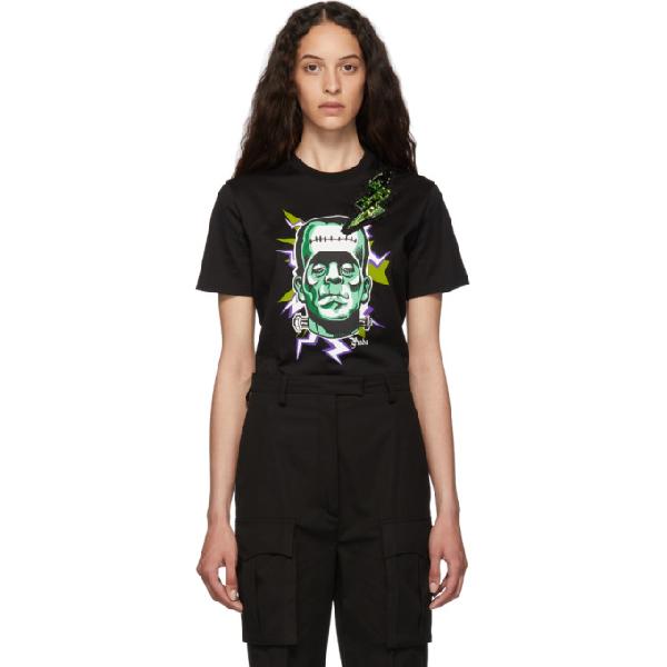 Prada Frankenstein Graphic-print Cotton-jersey T-shirt In Black