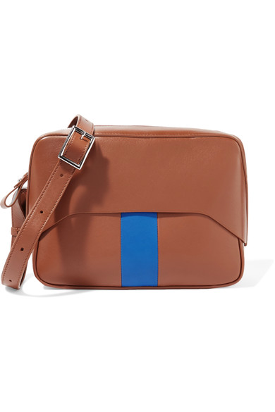 Tibi Cognac GarÇon Bag By Myriam Schaefer In Blue
