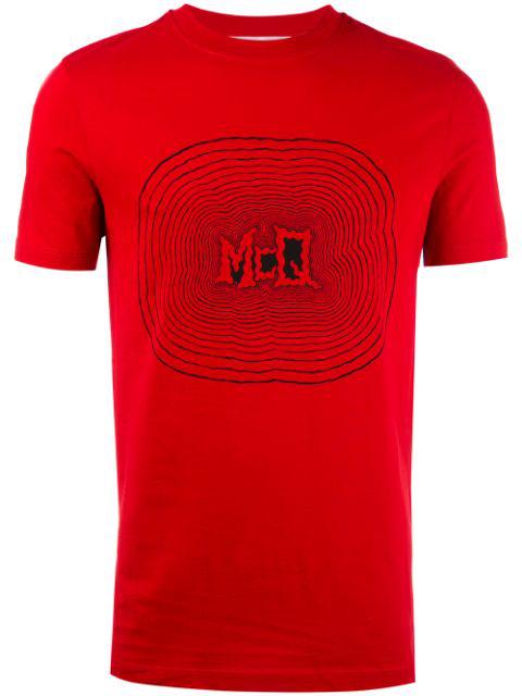 Mcq By Alexander Mcqueen Mcq Alexander Mcqueen - Printed Motif T In Red