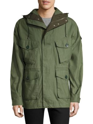 719b1649 Rag & Bone Cotton Canvas Hooded Field Jacket In Army Green | ModeSens