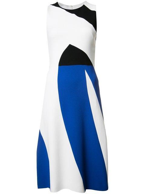 Narciso Rodriguez Triple-tone Dress
