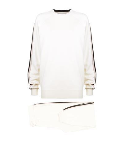 Olivia Von Halle Missy Moscow Cashmere Tracksuit Set In Ivory