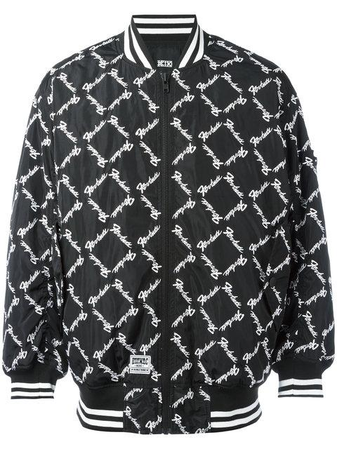 Ktz Square Latin Bomber Jacket - Black