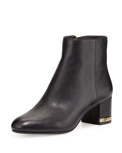 Michael Michael Kors Sabrina Chain-Heel Ankle Bootie, Black