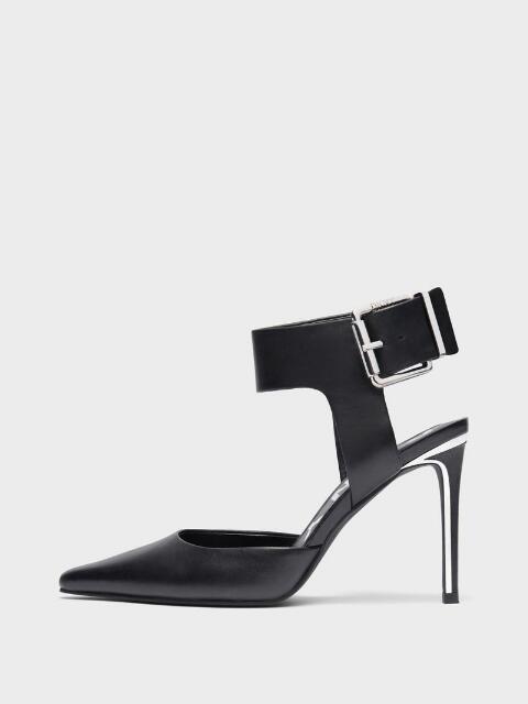 Donna Karan Belka Ankle Strap Pump In Black