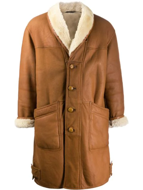Pre-owned A.n.g.e.l.o. Vintage Cult '1980s Oversized Coat In Neutrals