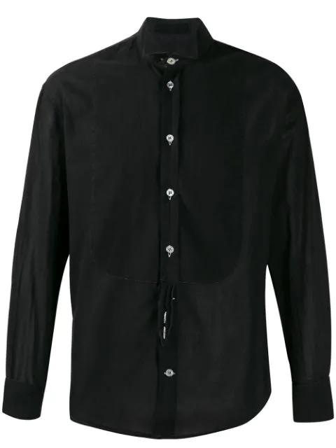 Pre-owned Giorgio Armani Cutaway Collar Shirt In Black