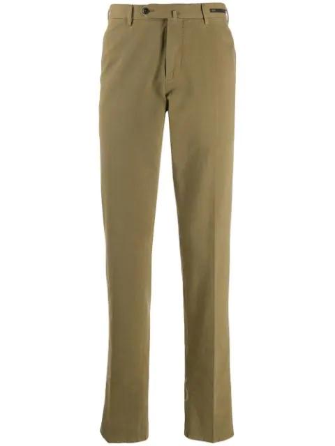 Pt01 Regular Straight-leg Trousers In Green