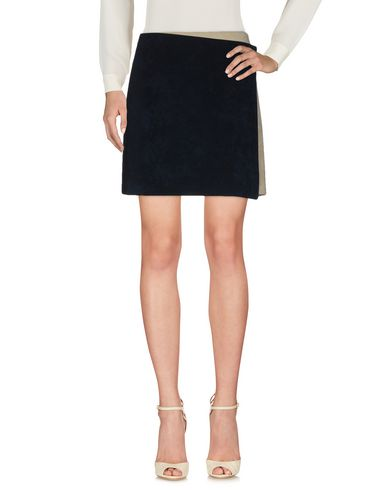 Msgm Knee Length Skirts In Dark Blue