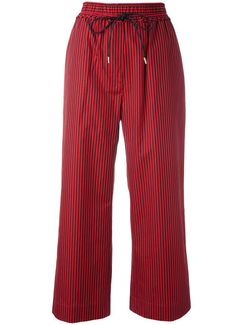 3.1 Phillip Lim Striped Cropped Trousers