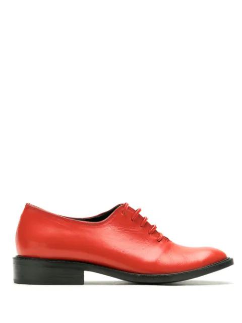 Reinaldo LourenÇO Leather Oxford Shoes In Red