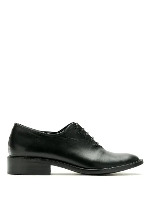Reinaldo LourenÇO Leather Oxford Shoes In Black