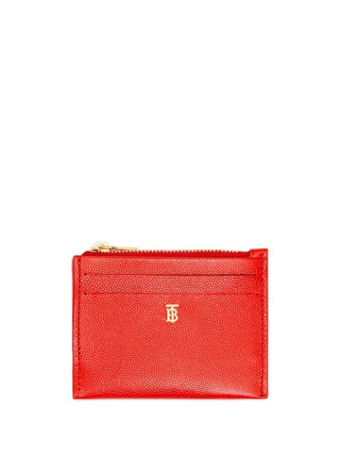 Burberry Monogram Cardholder In Red
