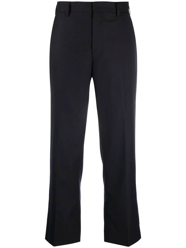 Junya Watanabe Cropped Tailored Trousers In Blue