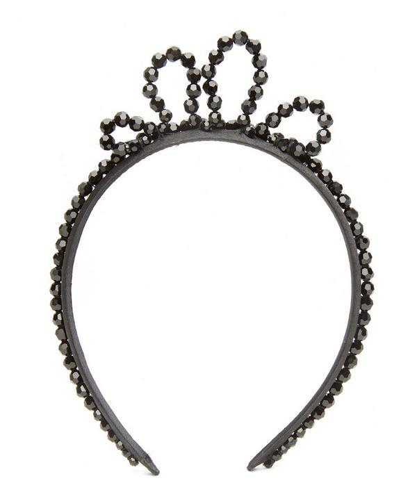 Simone Rocha Wiggle Crystal-Embellished Headband In Black