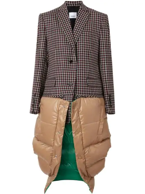 Burberry Tartan Dry Wool Tailored Jacket With Detachable Gilet In Red