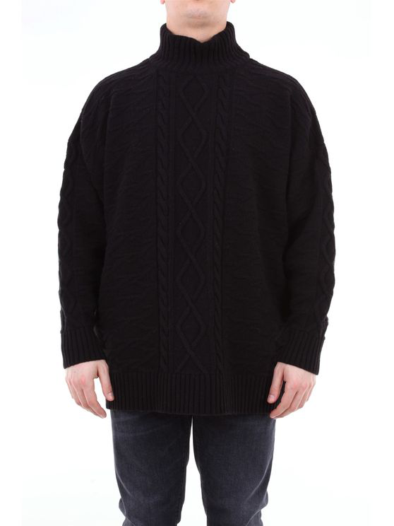 Represent Turtleneck In Wool And Cashmere In Black