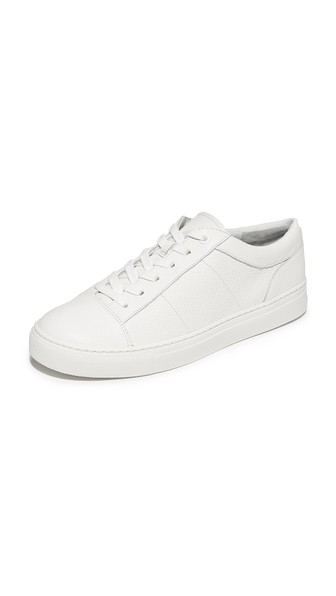 Vince Women's Afton Platform Leather Lace Up Sneaker In White