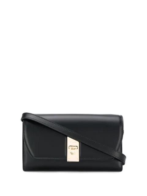 Salvatore Ferragamo Mini Cross-body Bag In Black