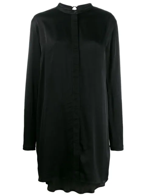 Diesel Black Gold Loose Fit Shirt Dress In 900 Black