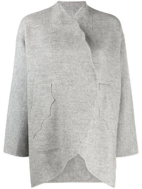 Tsumori Chisato Open-front Oversized Cardigan In Grey