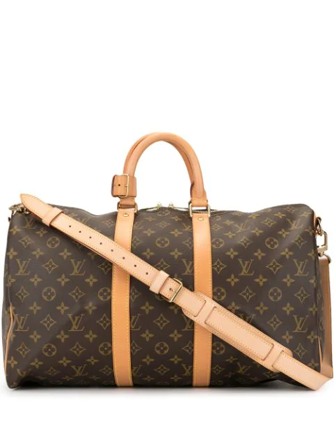 Pre-owned Louis Vuitton Keepall Bandouliere 45 Travel Bag In Brown