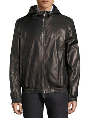 Bally Leather Blouson Jacket In Black