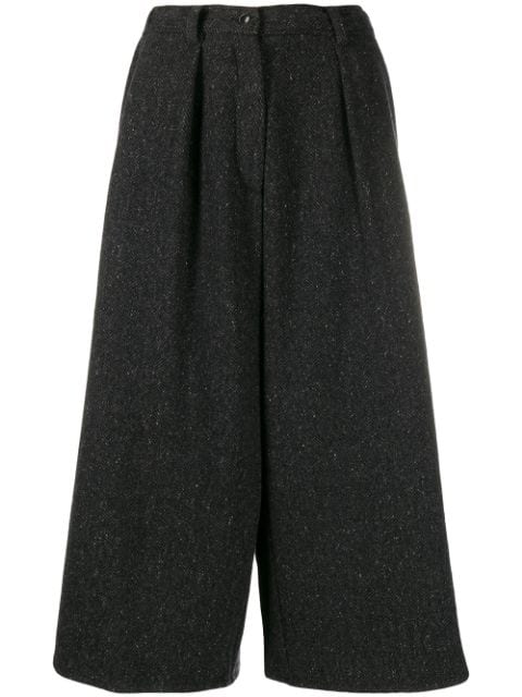 Dušan Cropped Palazzo Trousers In Grey