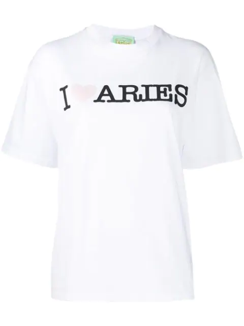 Aries Printed Logo T-Shirt In White