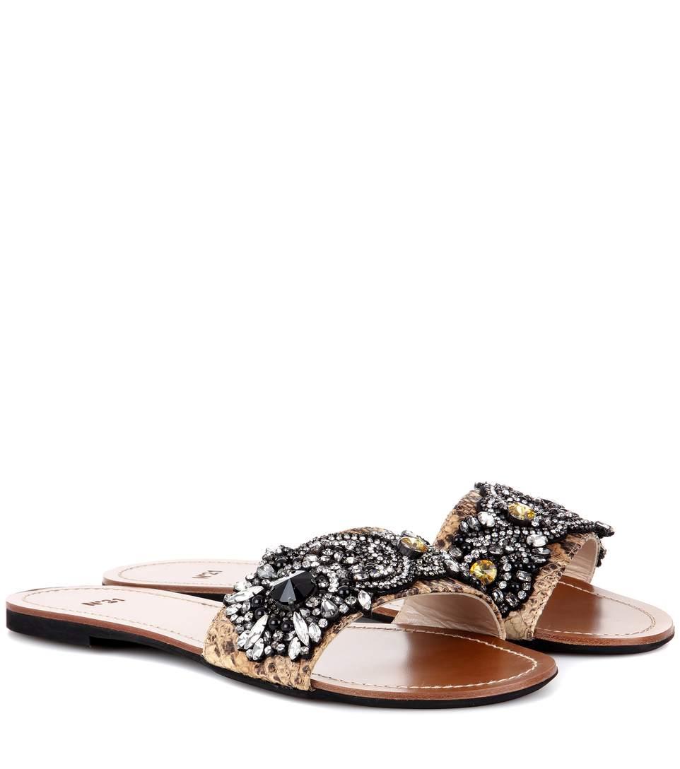 N°21 Italo Embellished Sandals In Multicoloured