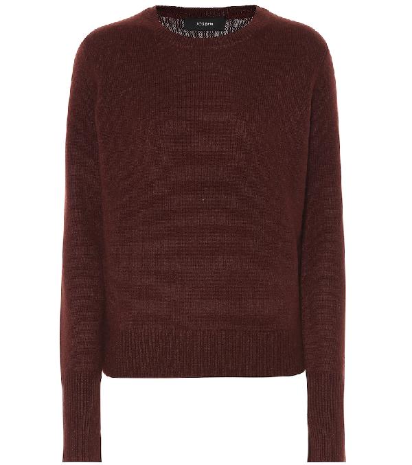 Joseph Cashmere Sweater In Red