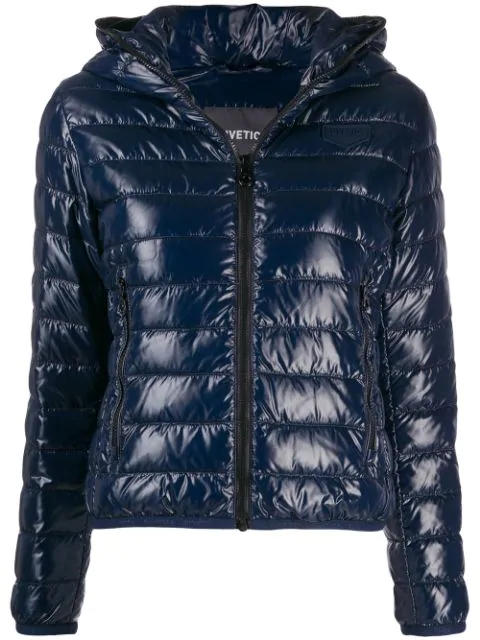 Duvetica Short Padded Jacket In Blue