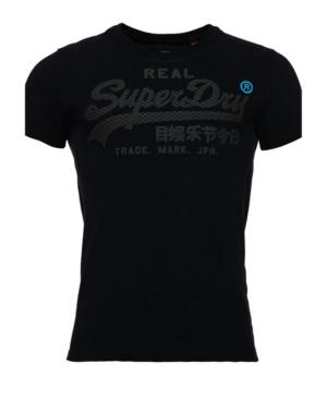 Superdry Vintage-like Logo Monochrome T-shirt In Black