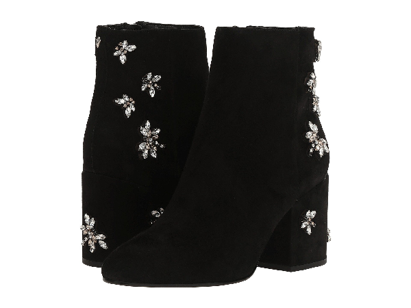 24d9353a9 Sam Edelman  Taye  Jewelled Insect Suede Ankle Boots In Black Kid Suede  Leather