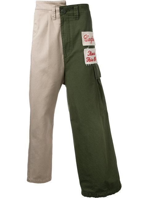 Miharayasuhiro Maison Mihara Yasuhiro Combined Cargo Pants - Green