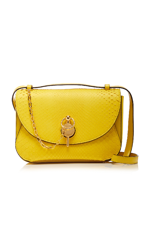 Jw Anderson Key Snake And Leather Bag In Yellow