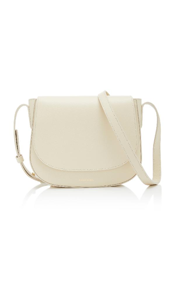 Mansur Gavriel Pebble-Grain Leather Crossbody Bag In Ivory