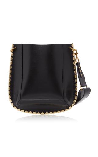 Isabel Marant Oskan Leather Shoulder Bag In Black